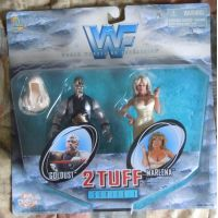 WWF 2 Tuff Series 1 Goldust and Marlena figures Jakks Pacific 81211