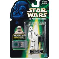 Star Wars Power of the Force -  Stormtrooper with Battle damage and Blaster Rifle Pack Hasbro