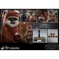 Wicket 12 inch Figure by Hot Toys Star Wars Episode VI: Return of the Jedi 904975