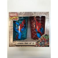 ​Spider-Man Glass Set of 2 (One Blue and One Red)
