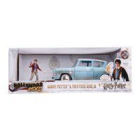 Harry Potter 1/24 Die-Cast 1959 Ford Anglia & Harry Potter Metal  Figure 2 3/4-inch Jada