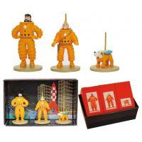 Tintin Coffret Micro Figurines Tintin Capitaine Haddock Milou On a Marché sur la Lune