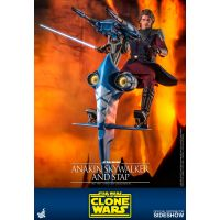 Star Wars: The Clone Wars Anakin Skywalker and STAP 1:6 figure set Hot Toys 906795
