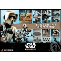 Scout Trooper and Speeder Bike Sixth Scale Figure Set by Hot Toys The Mandalorian -  Star Wars Television Masterpiece Series by Hot Toys  906340