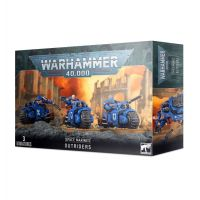 Warhammer 40,000 Space Marines Outriders 3 Miniatures