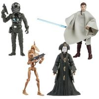 Star Wars The Vintage Collection Wave 15 Set of 4 Figures (Anakin Skywalker Outlander Peasant Disguise, Tie Fighter Pilot, Battle Droid, Queen Amidala) Hasbro