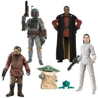 Star Wars The Vintage Collection Wave 16 Set of 5 Figures (Greef Karga, Zutton Snaggletooth, Leia Bespin, Boba Fett, The Chid Grogu) Hasbro