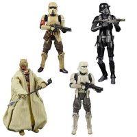 Star Wars The Black Series Archive 6-inch Wave 4 (Tusken Raider, Scarif Stormtrooper, Hovertank Driver, Death Trooper) Set of 4 Figures Hasbro