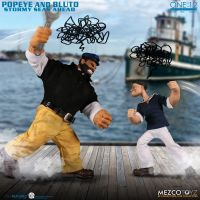 One-12 Collective Popeye & Bluto Stormy Seas Ahead Action figures Deluxe Box Set Mezco Toyz 76471