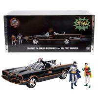 Batman Classic TV Series Batmobile 1:18 with figures Jada 98625