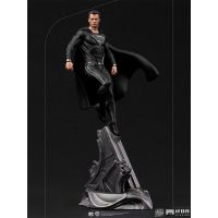 Superman Black Suit 1:10 Scale Statue Iron Studios 908014