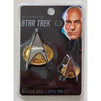 Star Trek Next Generation Badge & Lapel Pin Set