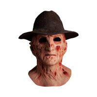A NIGHTMARE ON ELM STREET 4: THE DREAM MASTER - DELUXE FREDDY KRUEGER MASK WITH FEDORA HAT Trick or treat studios