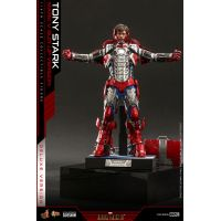 Tony Stark (Costume Mark V Suit Up) VERSION DE LUXE Figurine échelle 1:6 Hot Toys 908411