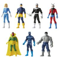 Marvel Legends Retro Collection 3.75 Wave 3 Set of 7 figures Hasbro (Invisible Woman, Cyclops, Punisher, Ant-Man, Visio, Black Panther, Grey Hulk)