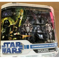 Star Wars Commemorative Collection Darth Vader with incinerator troopers (2008) 3_75 pouces figurines Hasbro