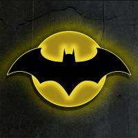 Batman LED Logo Light (Large) Wall Light by Brandlite Illuminated Wall Art 907457