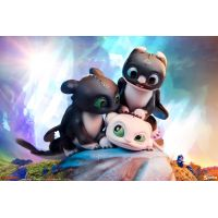 How to Train Your Dragon - Dart, Pouncer, and Ruffrunner Statue Sideshow Collectibles 200617