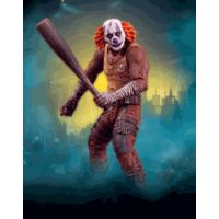 Batman Arkham City Series 3 Clown Thug with Bat