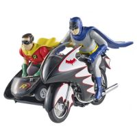 Batman Classic 1966 TV Series 1:12 Batcycle with Figures Hot Wheels Elite