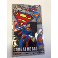 DC Comics Collector's Set - Superman (Key Chain, Patch, Button & Sticker)