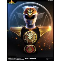 Power Rangers White Ranger Life-Size Bust Pop Culture Shock 902980