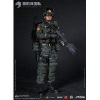 Chinese's People Armed Police Force Snow Leopard Commando Unit figurine échelle 1:6 Dam Toys 78052