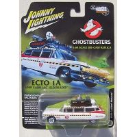 Ghostbusters ECTO 1A 1959 Cadillac Eldorado �chelle 1:64 Silver Screen Machines 2017 Series Johnny Lightning JLSS004