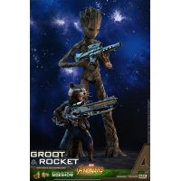 Avengers: Infinity War Groot et Rocket S�rie Movie Masterpiece figurines �chelle 1:6 Hot Toys 903423