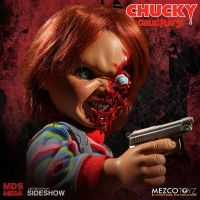 Talking Pizza Face Chucky Mega Figurine 15 pouces avec sons Child's Play Mezco Toyz 903891