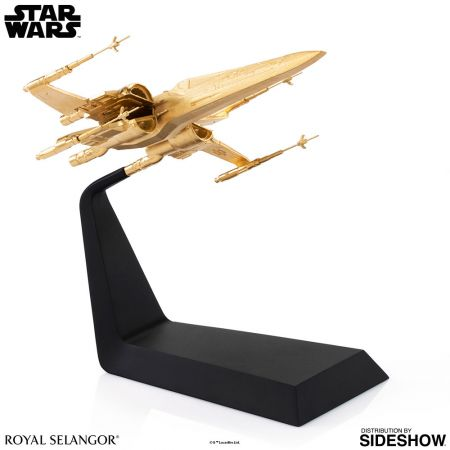 Star Wars Gilt X-Wing Starfighter T-70 X-Wing réplique plaquée or échelle 1:72 Royal Selangor 903585