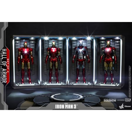 Hall of Armor Ensemble de 4 Diorama Iron Man 3 pour figurines 1:6 Hot Toys 904264