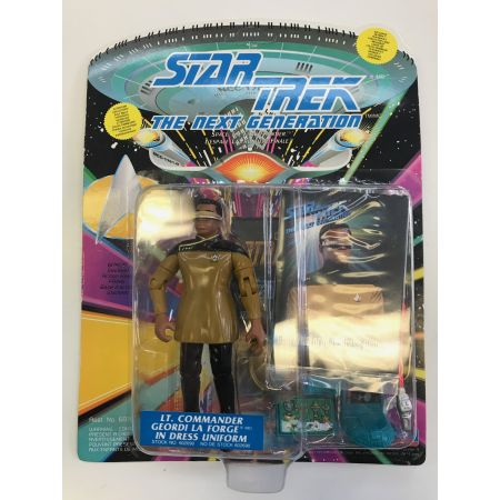 Star Trek The Next Generation Lt Commander Geordi La Forge in dress uniforme Playmates Toys 602690