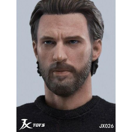 Tête style Capitaine America 1:6 JX Toys JXT-026