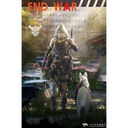 Doomsday End War Death Squad U Umir et chien figurines 1:6 Flagset 73022