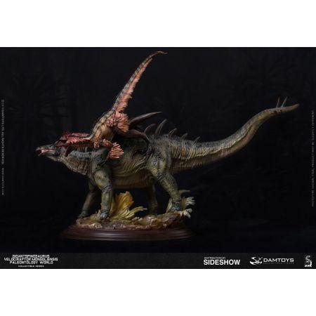 Gigantspinosaurus et Inner Mongolia Velociraptor Dam Toys 904604