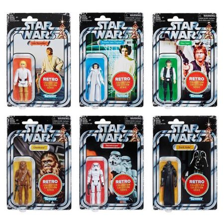 Star Wars Retro Collection Kenner Wave 1 Set of 6 Figures Hasbro