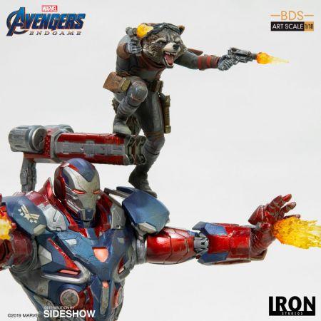 Iron Patriot & Rocket Avengers Endgame Statue 1:10 Iron Studios 904830