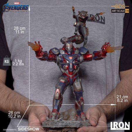 Iron Patriot & Rocket Avengers Endgame Statue 1:10 Iron Studios 904830 Iron Patriot & Rocket Avengers Endgame Statue 1:10 Iron Studios 904830