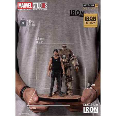 Iron Man Mark I and Tony Stark Statue by Iron Studios Marvel Studios: The First 10 Years - Art Scale 1:10 903652