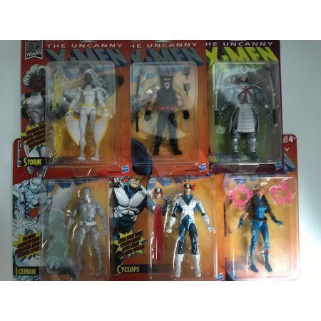 Marvel Legends X-Men Retro Wave 1 Set of 6 Figures Hasbro