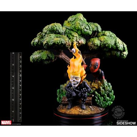 Deadpool x Ghost Rider Q-Master Diorama Quantum Mechanix Inc 905086 Deadpool x Ghost Rider Q-Master Diorama Quantum Mechanix Inc 905086