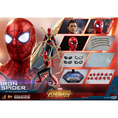 Avengers: Infinity War Iron Spider Série Movie Masterpiece figurine échelle 1:6 Hot Toys 903471
