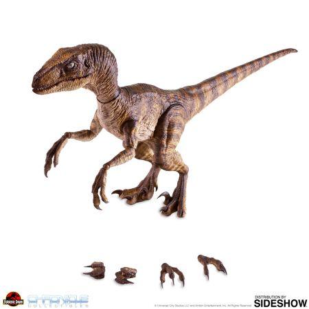 Dr Alan Grant et le Velociraptor (Parc Jurassique) figurines 1:6 Chronicle Collectibles