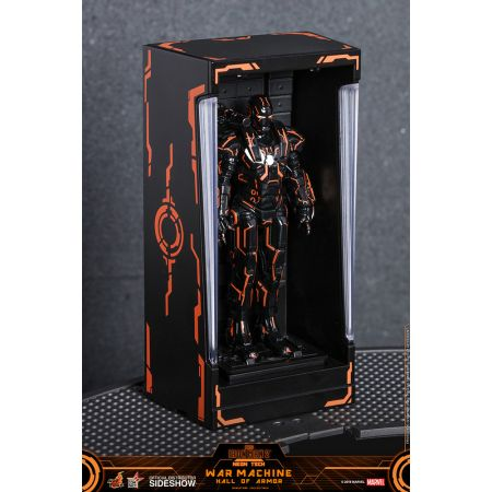 Neon Tech War Machine Hall of Armor Diorama Hot Toys 905462