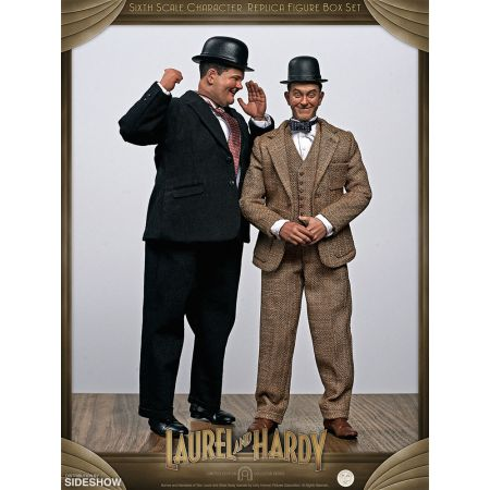 Stan Laurel et Oliver Hardy (costumes classiques) ensemble de 2 figurines 1:6 BIG Chief Studios 905361