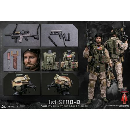 1st SFOD-D Combat Applications Group Gunner figurine 1:6 Damtoys 78074
