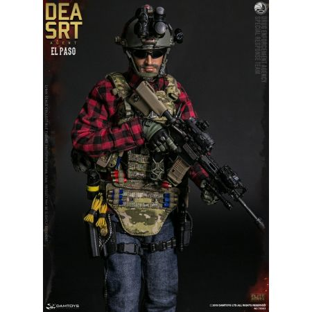 Drug Enforcement Bureau SRT Special Response Team figurine 1:6 Damtoys 78063