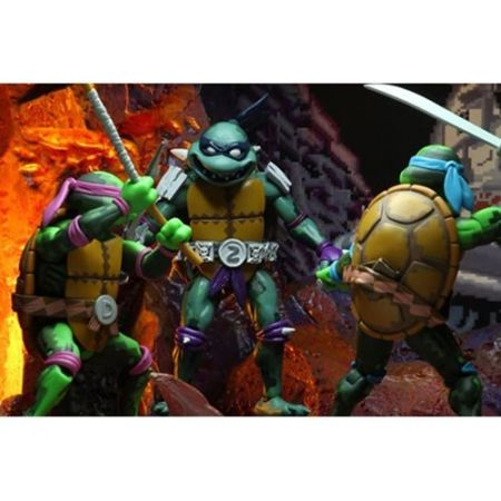TMNT: Turtles In Time ensemble de figurines 7 po NECA