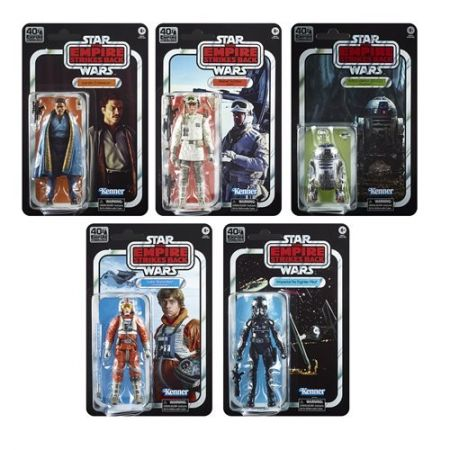 Star Wars Black Series Empire Strikes Back 40th Anniversary Wave 2 Set of 5 Figures Hasbro
